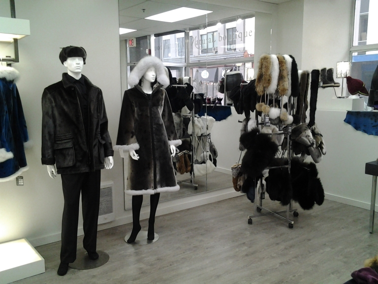 Natural Boutique specializes in Seal Skin apparel for men, women and children. Water Street, St. John's, NL