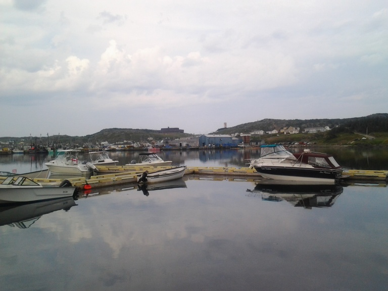 Twillingate boats on a calm day