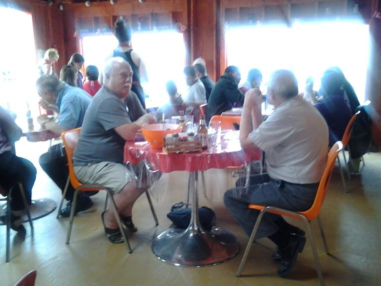 Busy evening at Doyle Samsone's Lobster Pool restaurant