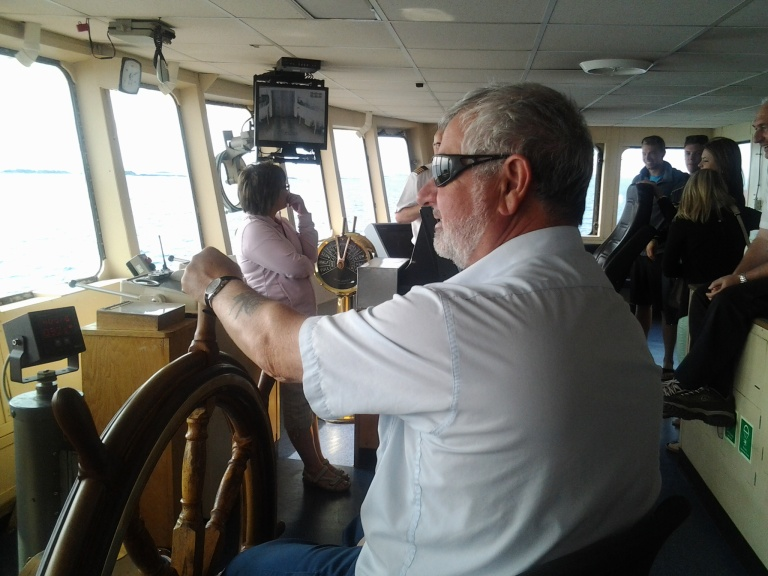 Wheelhouse of the ferry