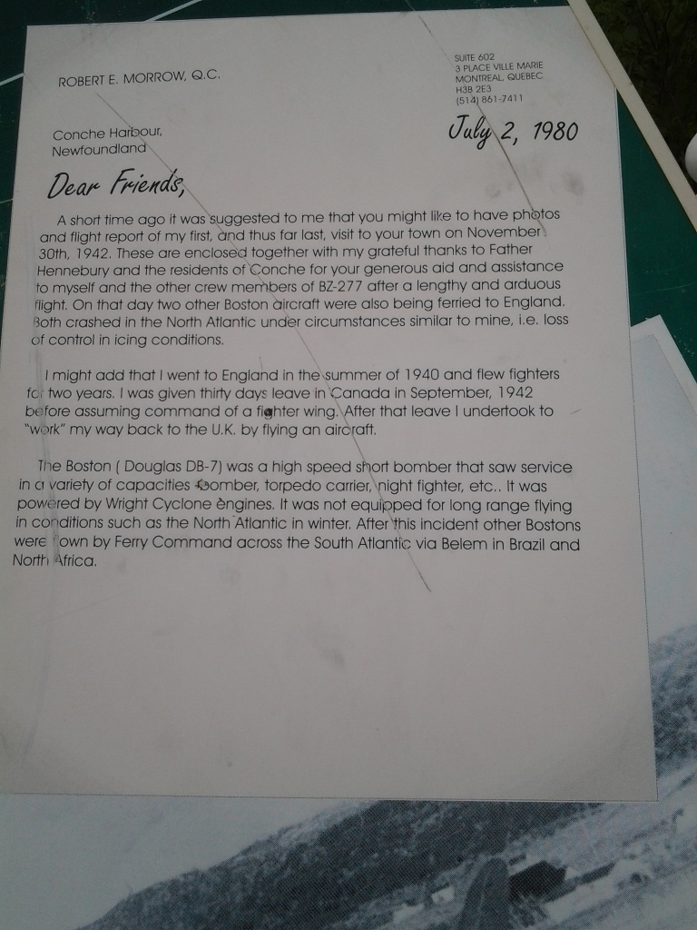 Letter from one of the airmen.