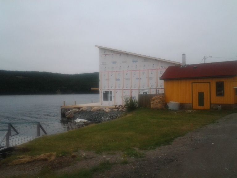 Construction of addition to By the Sea Café and Resort, Kings Point, NL