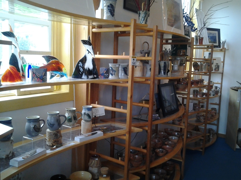 Pottery by various Atlantic Canada potters. Kings Point Pottery, NL