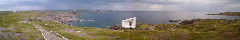 Squish Studio towards Turpin's Trail, Tilting, Fogo Island, NL