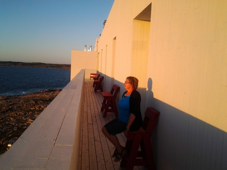Taking in the view from the 4th floor of the Fogo Island Inn.