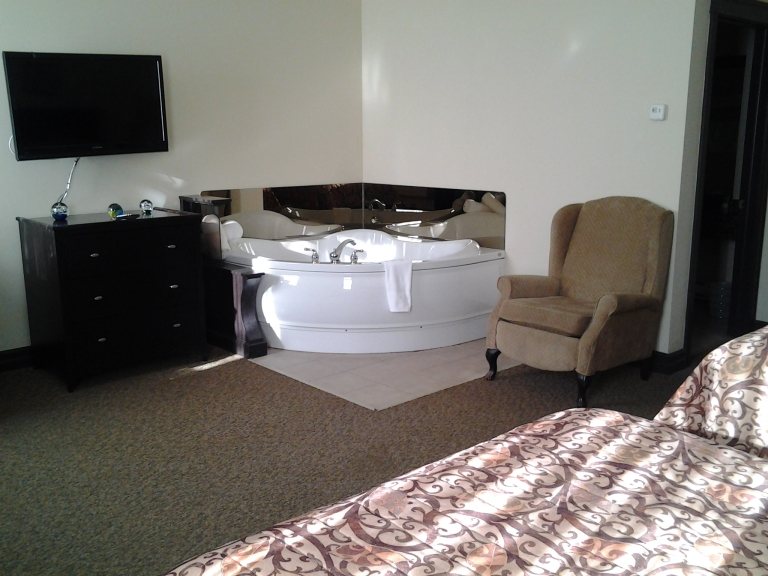 Double whirlpools are available in many rooms at the Monastery Spa and Suites, St. John's, NL