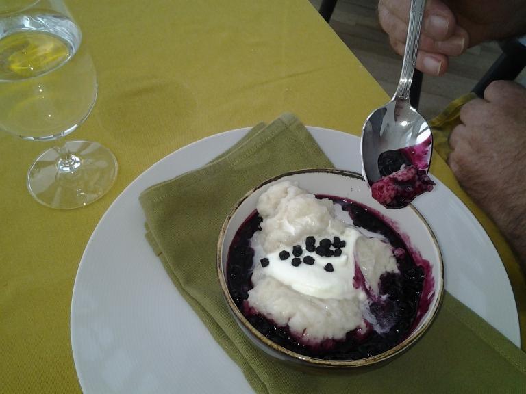 Blueberry dumplings, Fogo Island Inn