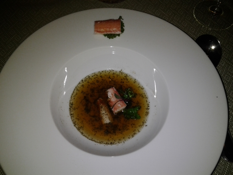 Snow crab in capelin sauce, Fogo Island Inn