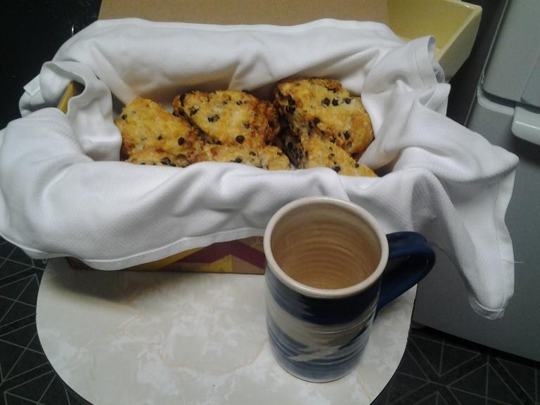 Blueberry scones from the Fogo Island Inn