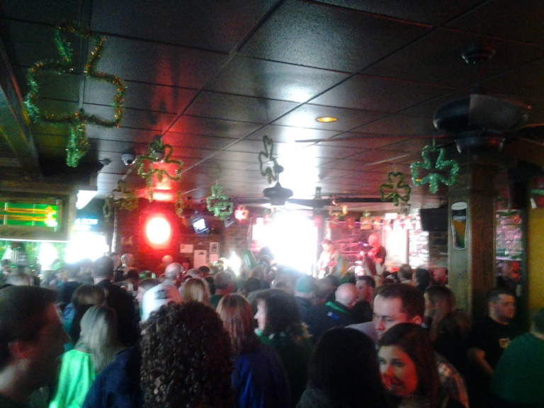 Shamrock City Pub, 3:30 on Saturday afternoon before St. Patrick's Day Monday.