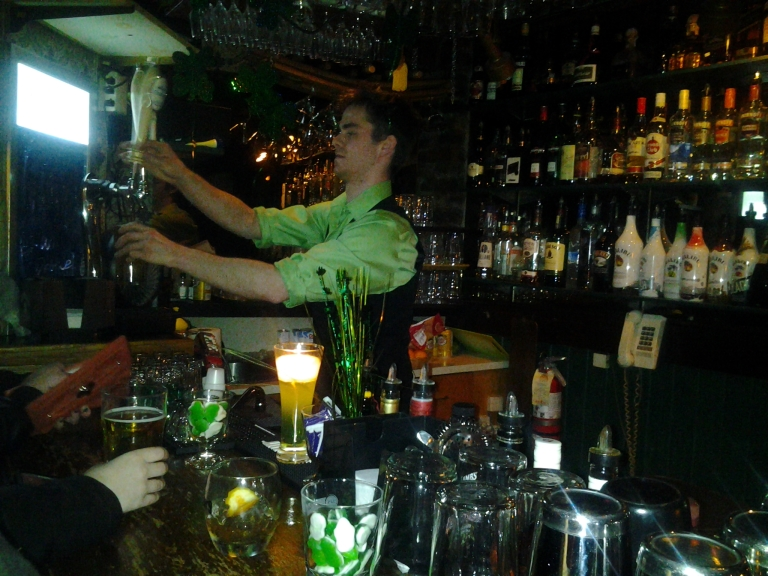 Michael S. rocks the upstairs bar at Christian's on George Street, St. John's.