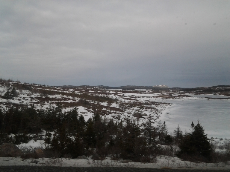 The Avalon has much less snow than Gander as we start our drive East.