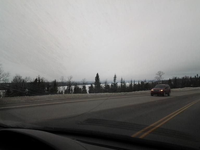 Gander Lake frozen over 2014