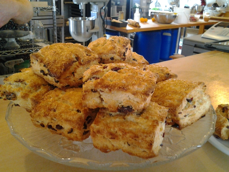 Cranberry Orange Scones and a Flat Earth Coffee will cure what ails you every time!