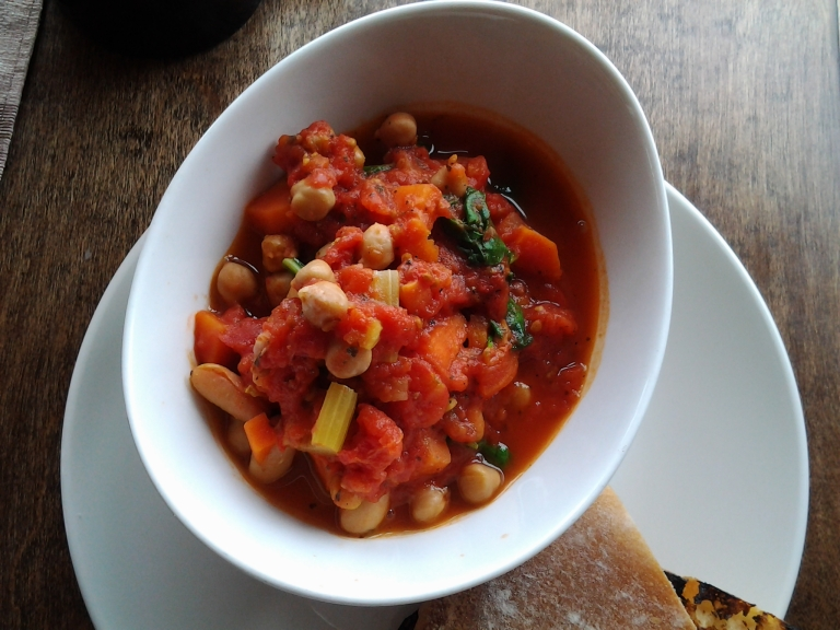 Nicole's Café, Joe Batts Arm, Fogo Island Lentil Stew was a vegetarian option and great on a cool day.
