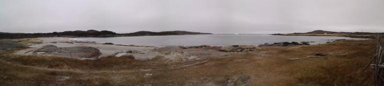 Sandy Beach and iceberg, Tilting, Fogo Island May 31, 2014