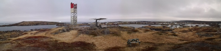 Turpin's Trail with icebergs, Tilting, Fogo Island, May 31, 2014