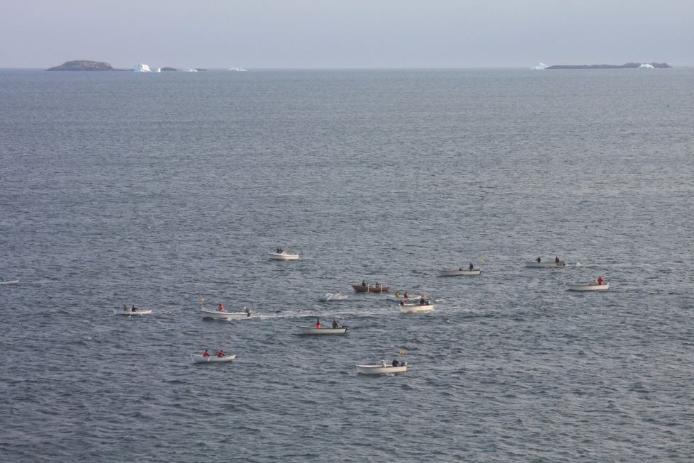 PUnt Race as viewed and photographed by Tom Curran from his room at the Fogo Island Inn. Thanks for the pictures Tom.