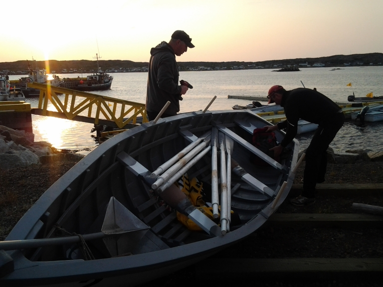 Final preparations before the Fogo Island Pun Race 2014
