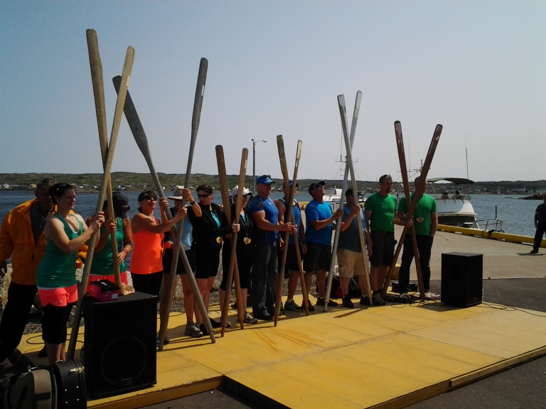 Gold, Silver and Bronze Oar winners, Great Fogo Island Punt Race, 2014