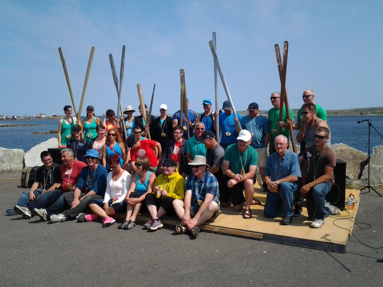 Rowers from the Great Fogo Island Punt Race 2014