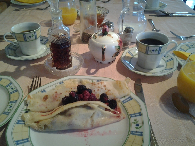 Berry crepe, Rose Sea Guest Home, Rose Blanche, NL