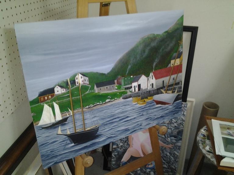 Harbour Lecou scene by Jeff Musseau