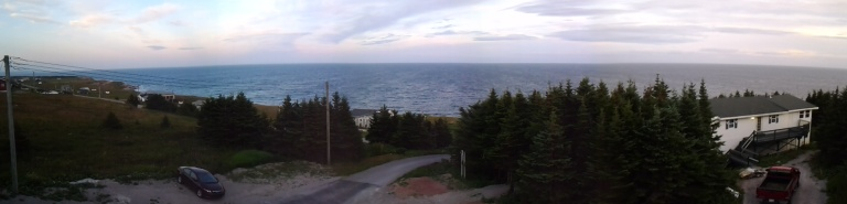 View from the deck of the Inn at the Cape, NL