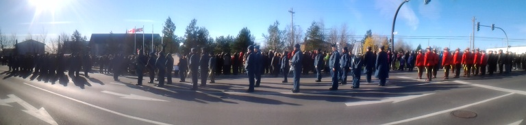Remembrance Day 2014, Gander, NLO