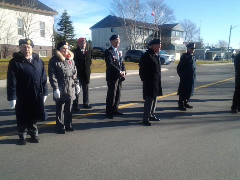 Members of Royal Canadian Legion, Remembrance Day 2014, Gander, NL