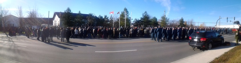 Remembrance Day, Gander, 2014