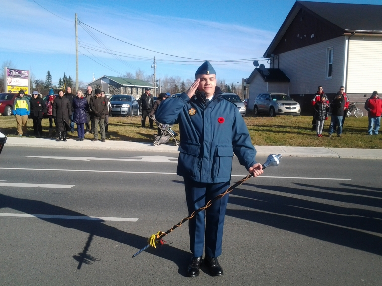 And one of my favorite guys in uniform. You make me proud! Remembrance Day, Gander, 2014