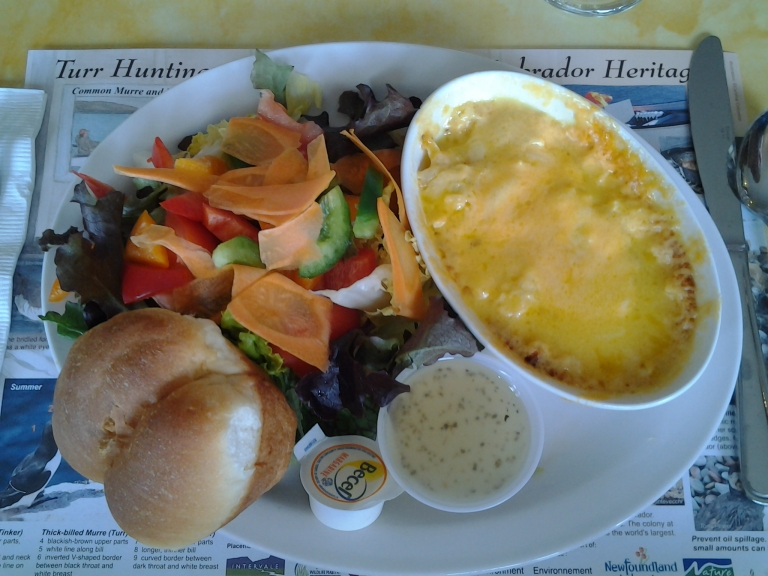 Lunch at the Spindrift Motel, Musgrave Harbour, NL